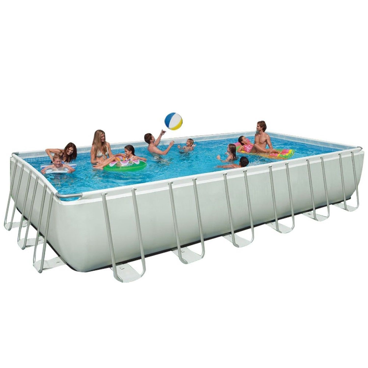 Intex 24Ft X 12Ft X 52In Ultra Frame Pool Set With Sand Filter Pump ...
