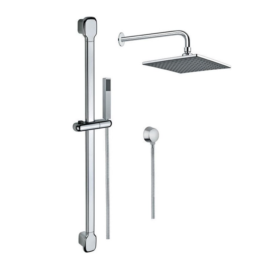 Shop Nameeks Superinox 8 58 In Chrome Showerheads With Hand Showers At Lowes Com Nameeks Shower Heads Shower Columns