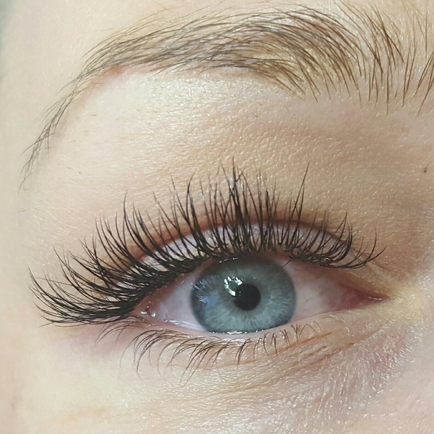 Beautiful natural lash extensions with a special LMB