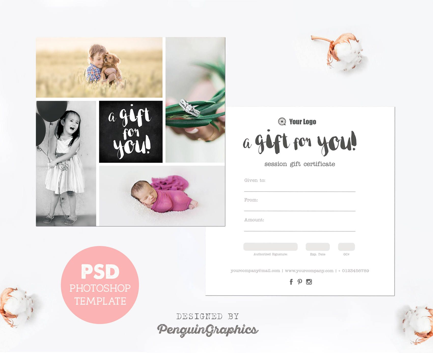 Pin by kate blankenship on fontastic pinterest gift certificate photography mini sessions photography gifts gift certificate template gift certificates psd templates adobe photoshop gift cards edit text yelopaper Choice Image