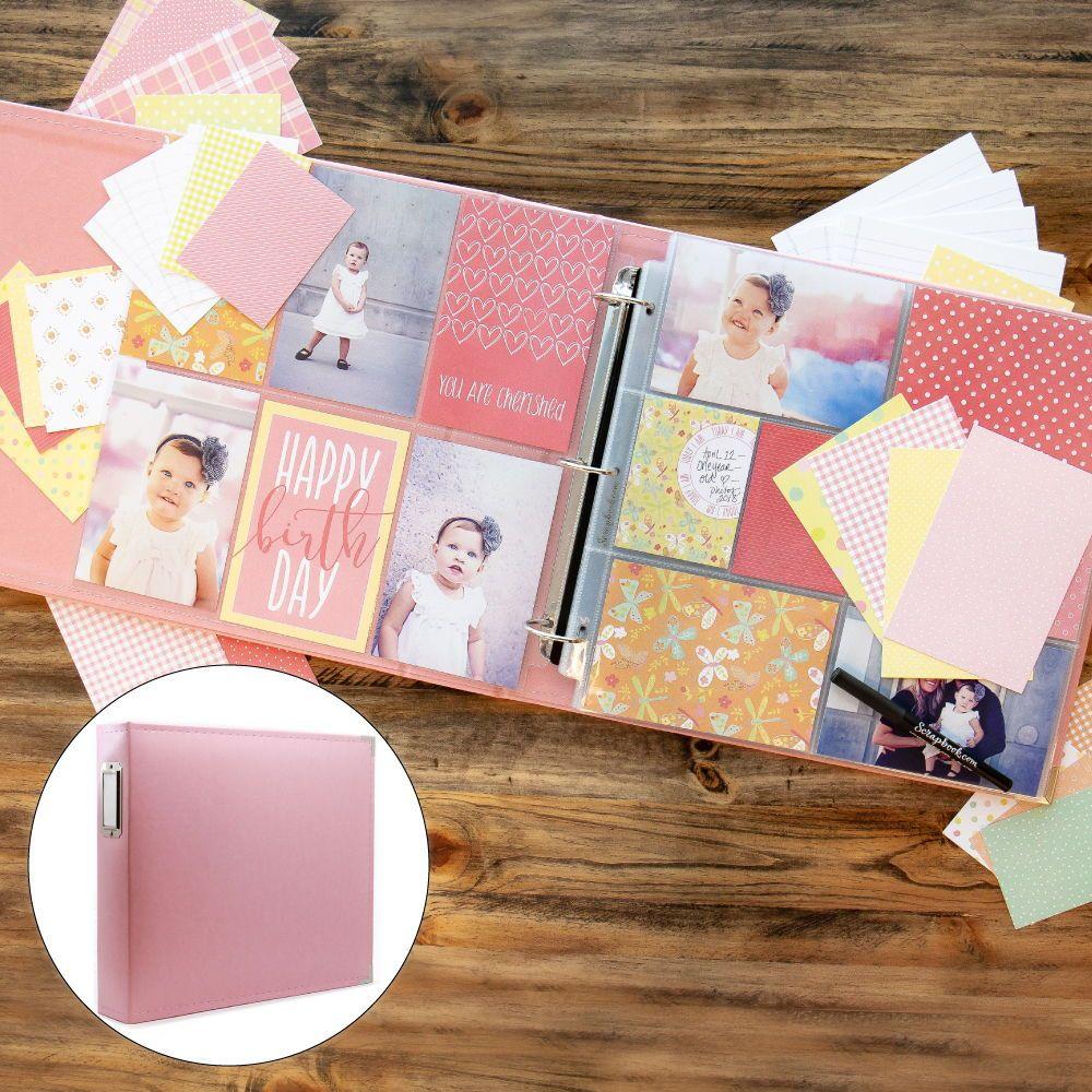 Handmade Girl Scrapbook Pop up Photo Album Hanmade Kids Album Kids Album Girl