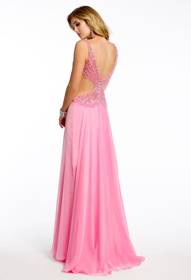 Shirred Beaded Bodice Dress from Camille La Vie and Group USA | PROM ...