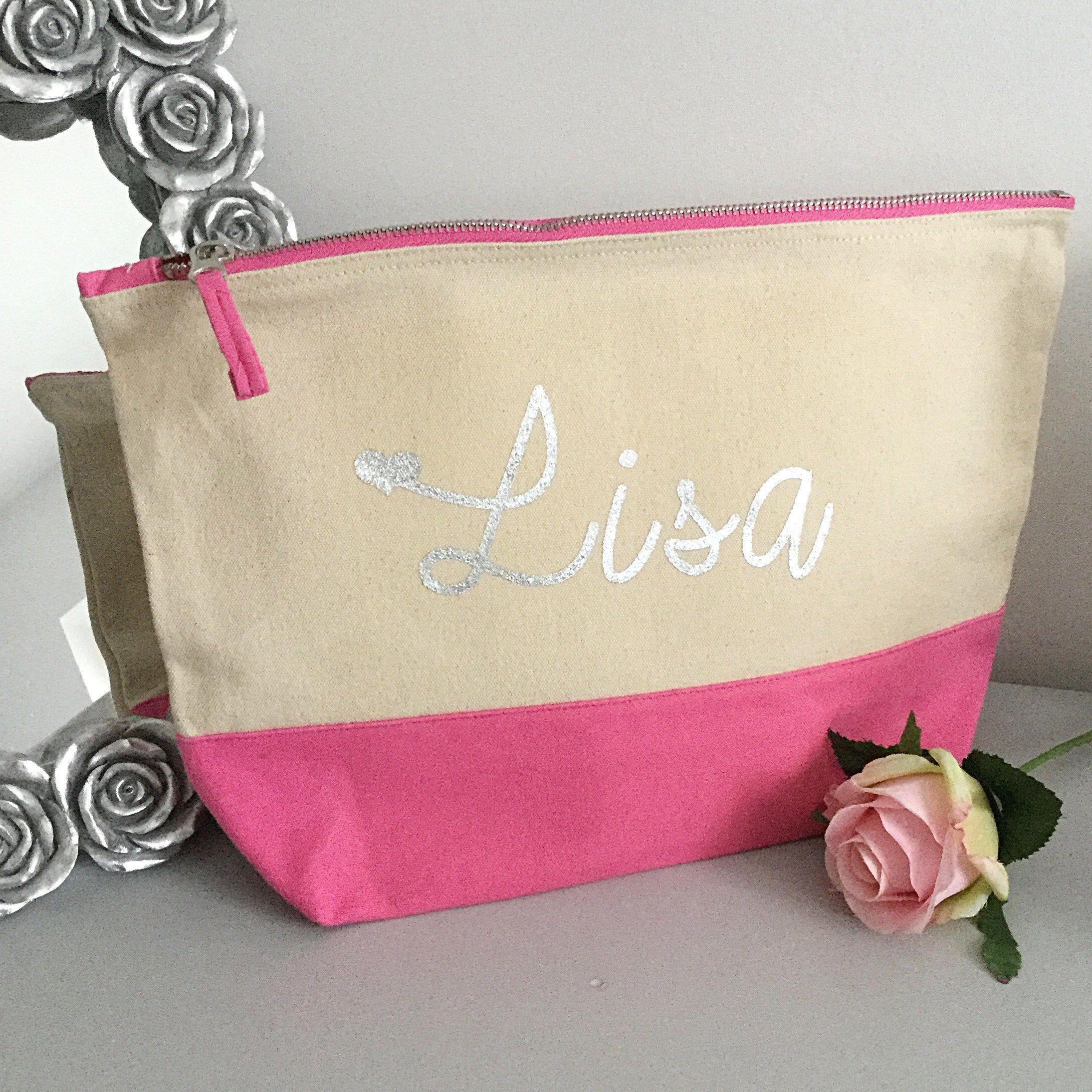 LARGE personalised makeup bag personalised toiletry bag ...