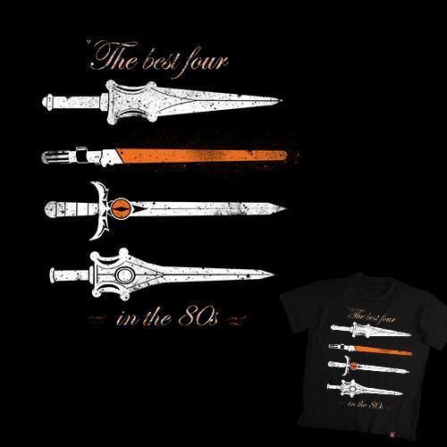 Las mejores cuatro espadas de los 80. ¿Sabes de quienes son? #infancia