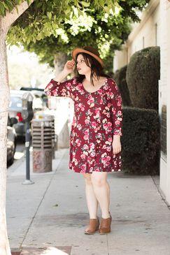 www.livingdoll.la // Floral Button Down Dress. plus size clothing