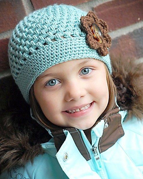 crochet beanie, love the colors