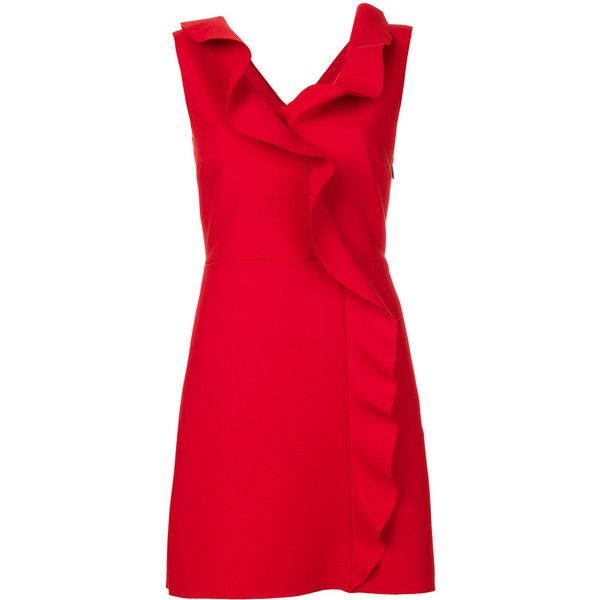 v-neck mini dress - Red Msgm jx4T6YL