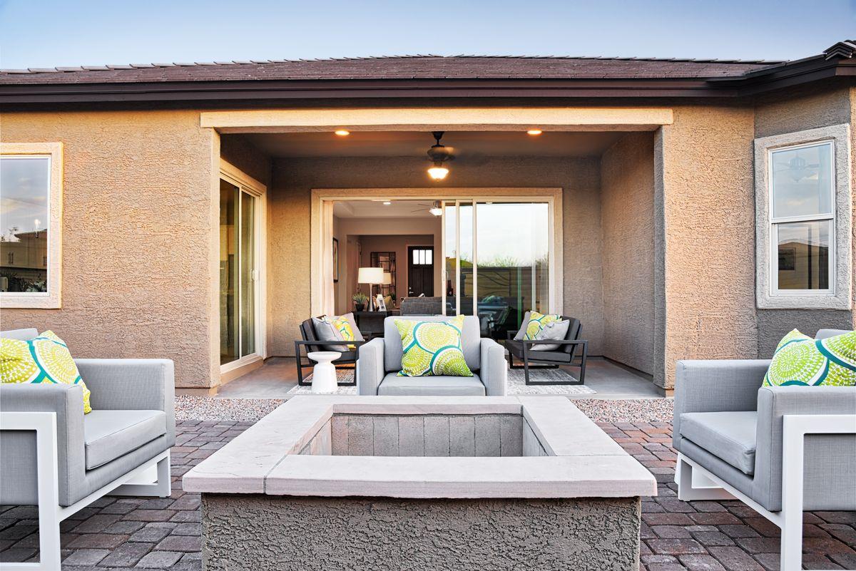 Cozy Outdoor Fire Pit Dominic Model Home Patio Tucson Arizona