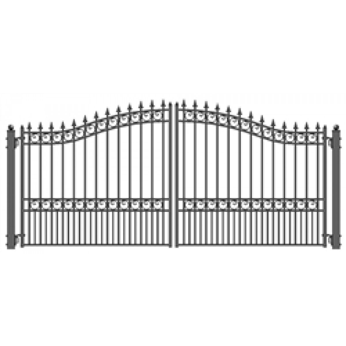 14 Steel Gate With Posts 1 034 Total Cost Tax Wrought Iron Gate Designs Steel Gate Iron Gate Design