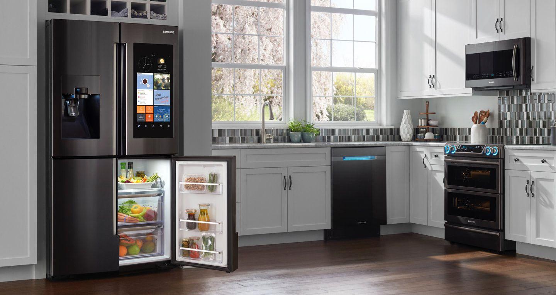 Pourquoi Payer 3 000 Euros Pour Un Refrigerateur Connecte Alors Qu Un Home Mini Coute 60 Euros Samsung Kitchen Appliances Samsung Kitchen Luxury Appliances