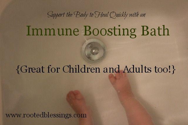 Immune boosting bath