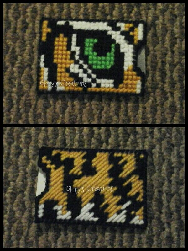 Eye of the Tiger plastic canvas card holder. | Glory\'s Crochet ...