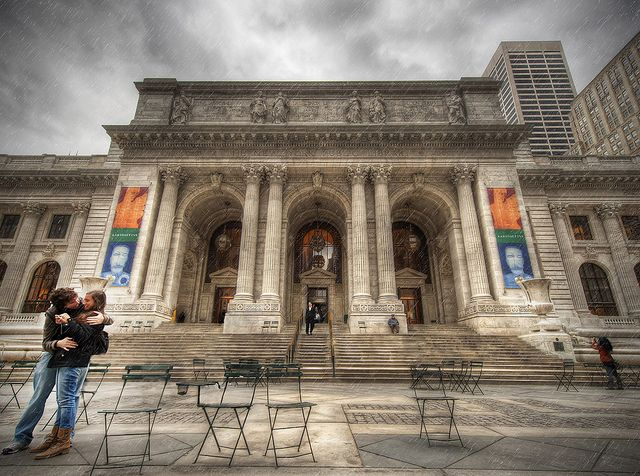 This is one of my favorite shots. I took this in front of the NYC Public Library. It was a rainy day and as I've mentioned already, I love shooting HDR under storm clouds. The architecture of this building is amazing, which was my sole motivation for