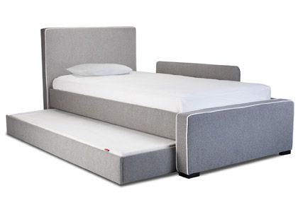 Modern Dorma Upholstered Twin Bed With Trundle Accessories