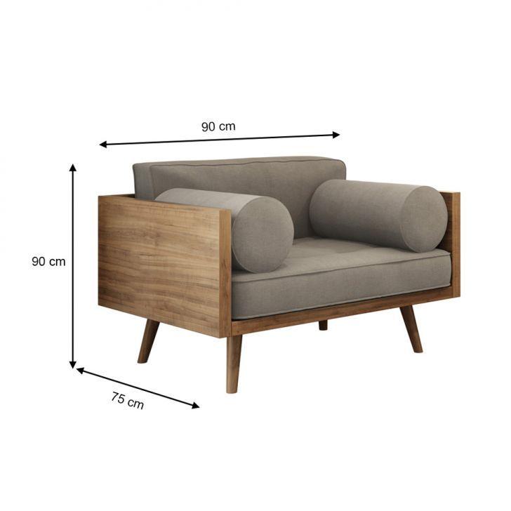 Poltrona Scarlett Suede Cinza Outdoor furniture