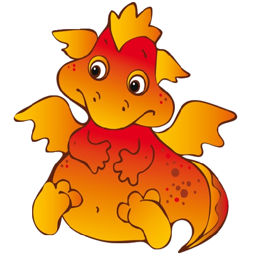 cute cartoon dragons with flames clip art images are on a rh pinterest com au