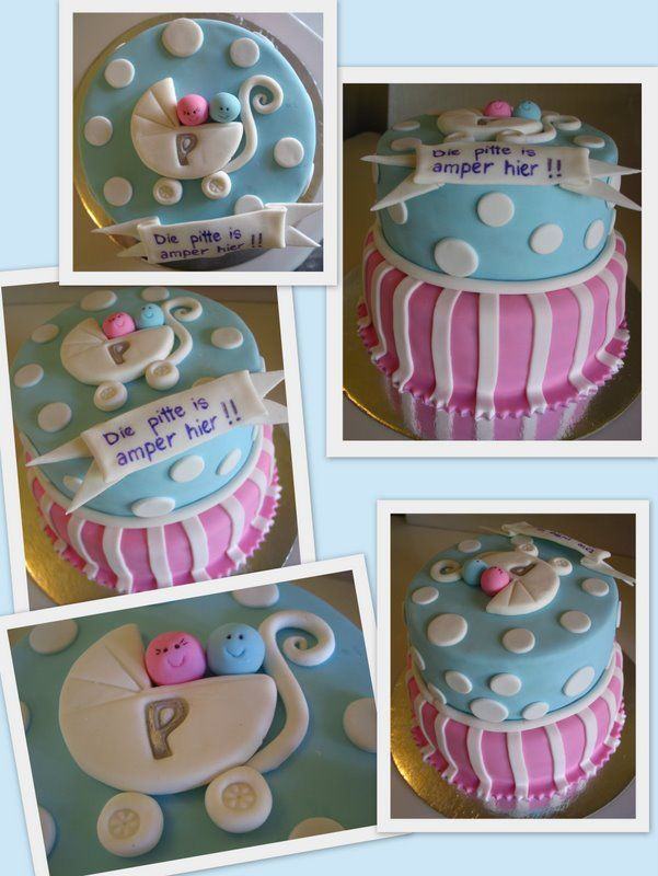 blue and pink baby showers pinterest shower cakes cake and babies