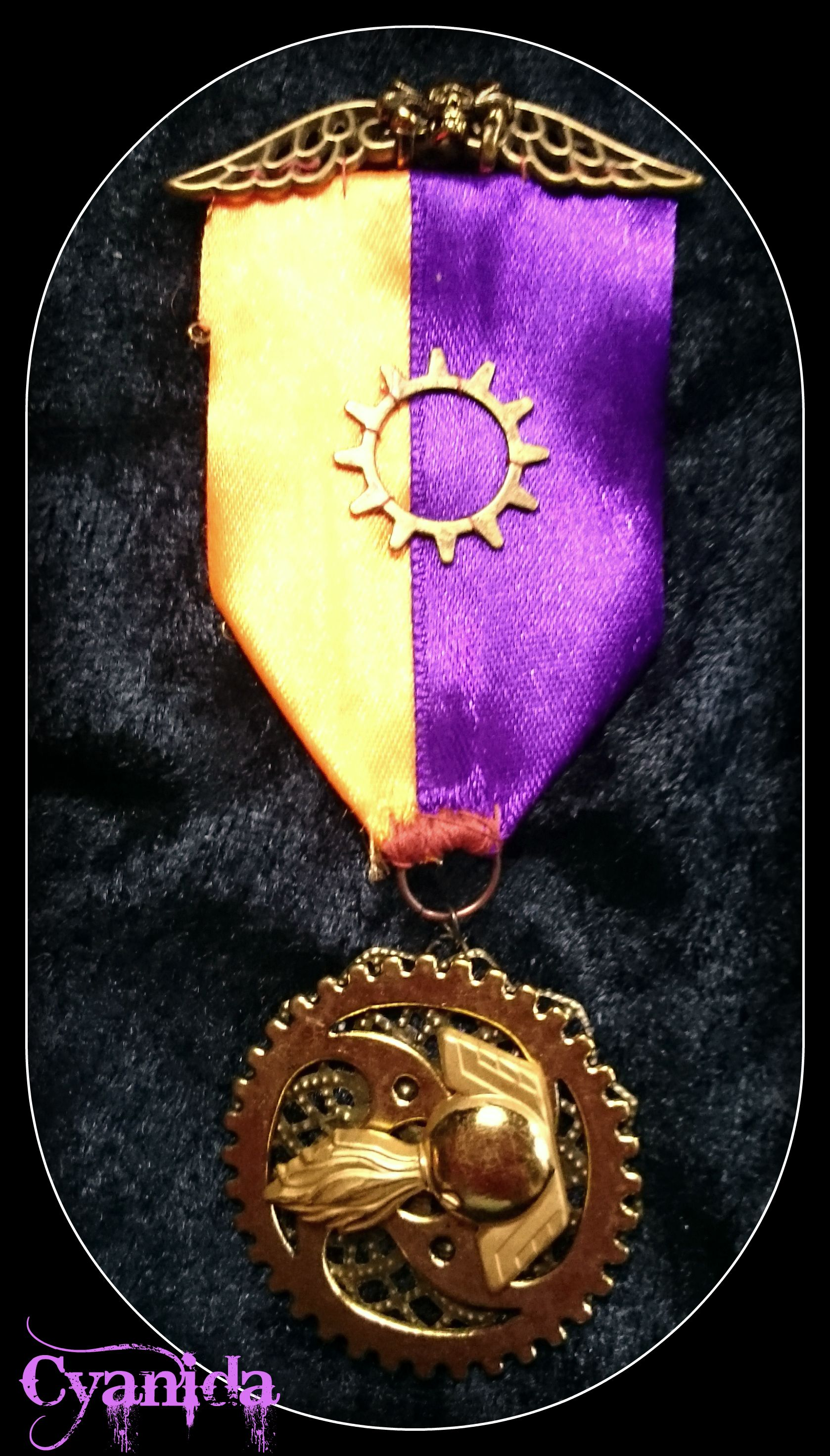 Steampunk medal made by Cyanida