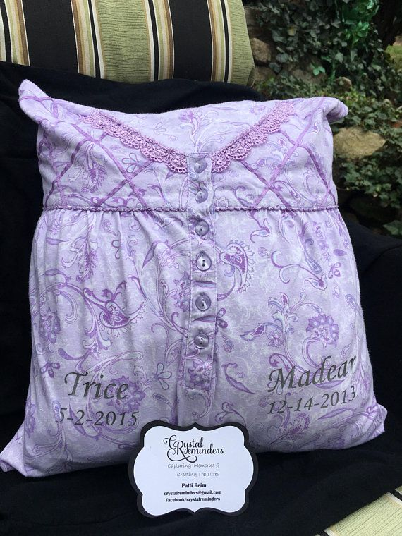 Custom Memory Pillow Made To Order From