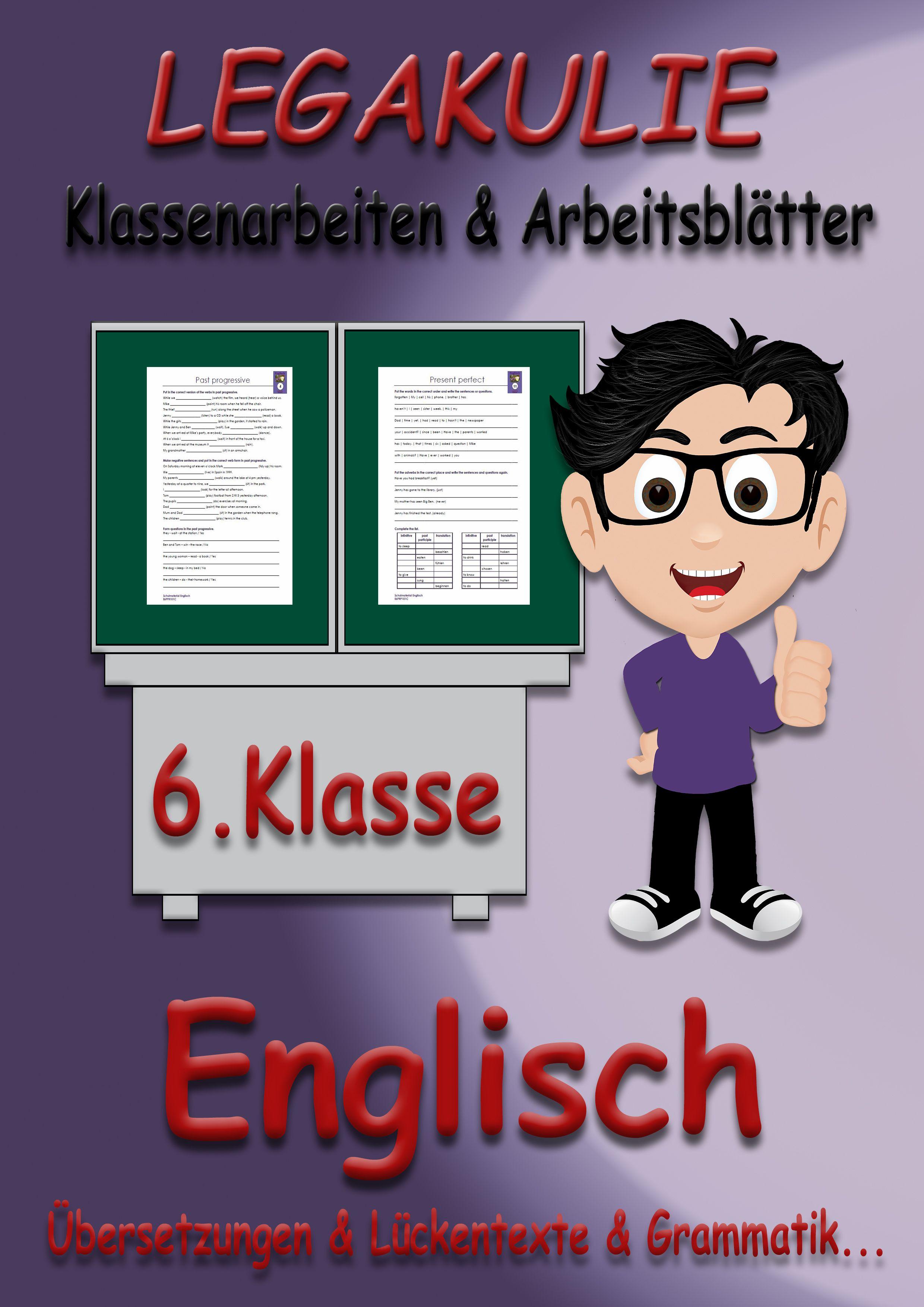 Englisch #6Klasse #Arbeitsblatt #Klassenarbeit Alle ...