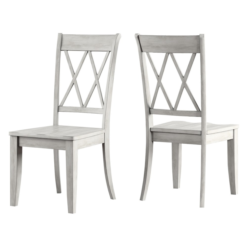 Set Of 2 South Hill X Back Dining Chair White Inspire Q With Images Solid Wood Dining Chairs Black Dining Room Furniture Dining Chairs