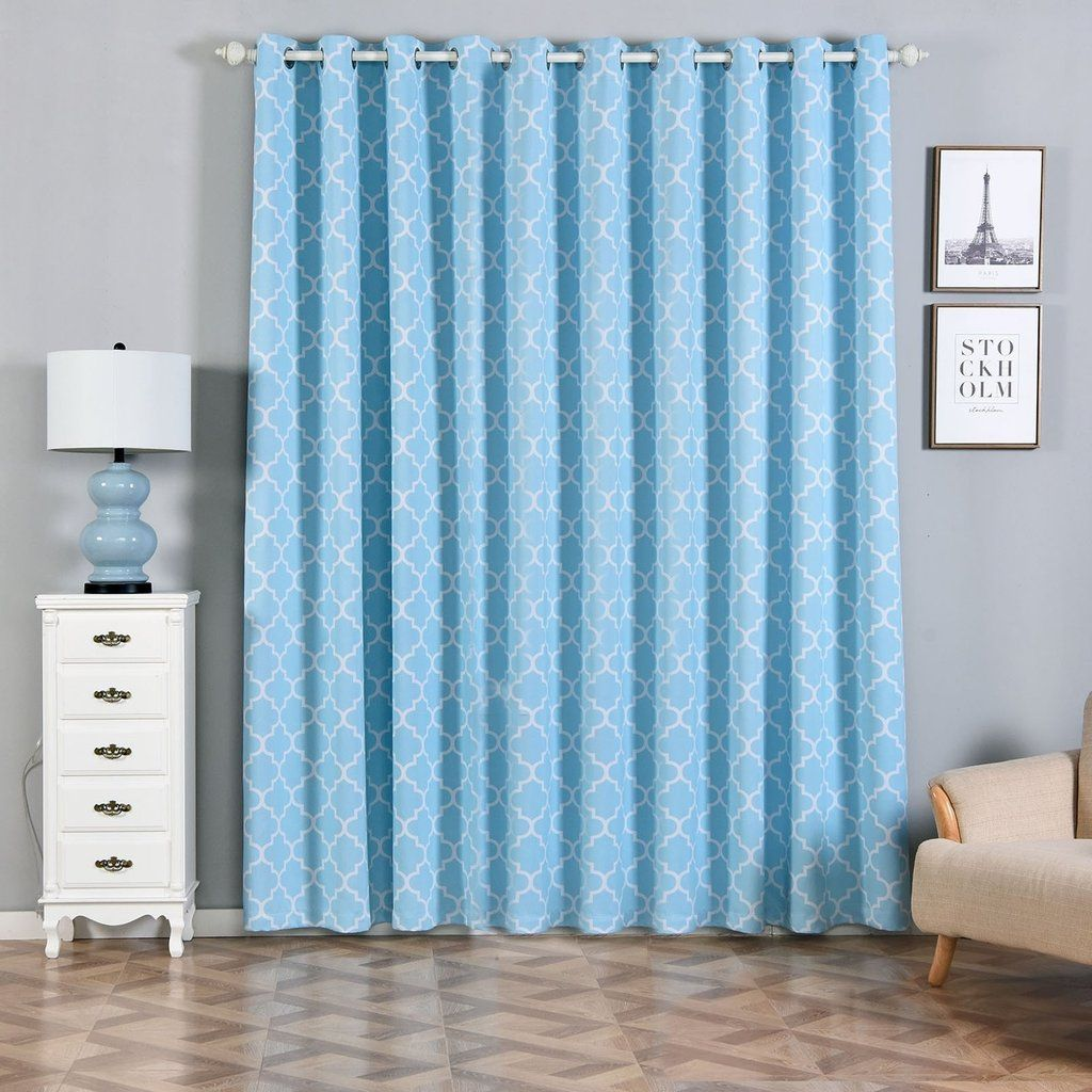 Lattice Curtains 2 Packs Blue And White Trellis Curtains 52