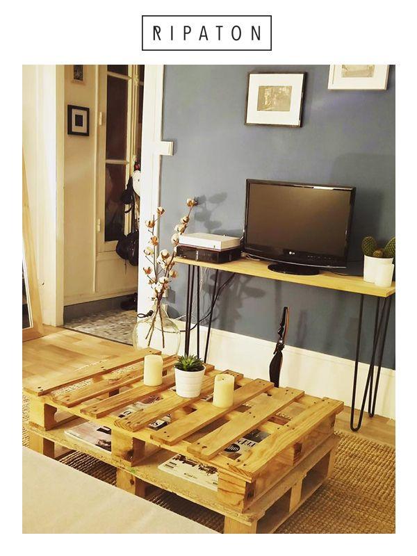 Atelier Ripaton — France Console design en bois et nos pieds de