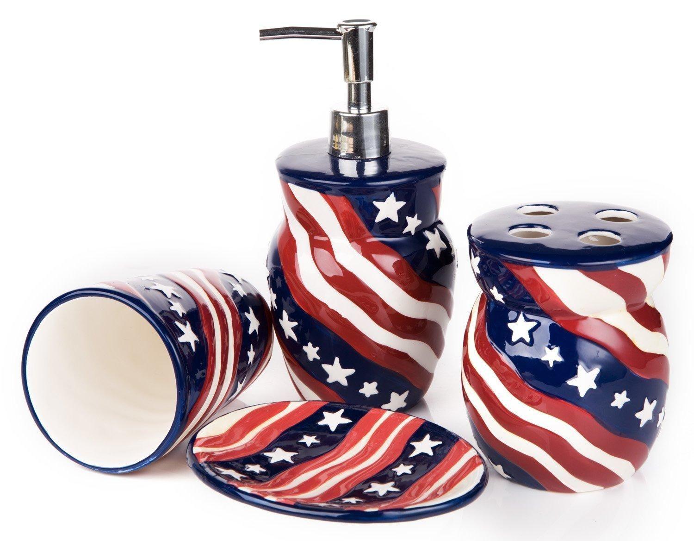 Diy Decorate Your Bathroom For Fourth Of July Paperblog Bathroom Decor Guest Bathroom Small Diy Bathroom American flag bathroom decor