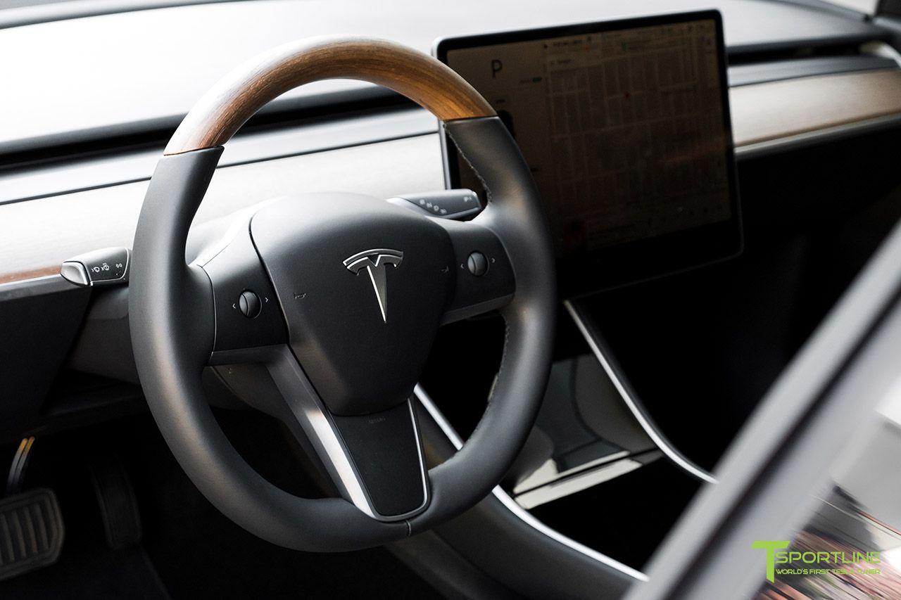 Tesla Model 3 Open Pore Wood Steering Wheel Wood Custom