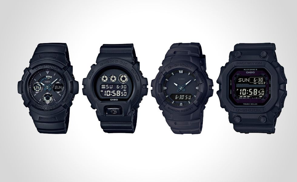 G-Shock Has Released Black Out Basic Series: GXW-56BB-1JF, AW-591BB-1A, DW-6900BB-1, G-100BB-1A - http://gadgetswizard.com/g-shock-released-black-basic-series-gxw-56bb-1jf-aw-591bb-1a-dw-6900bb-1-g-100bb-1a