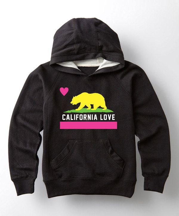 Look at this Black 'California Love' Flag Hoodie on #zulily today!
