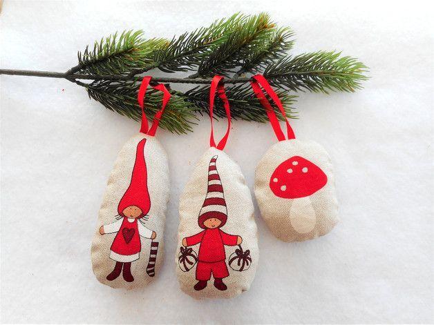 Christmas Decor Christmas Balls Pixies Mushroom – a unique product by Eliz-style-creation. Via en.DaWanda.com.