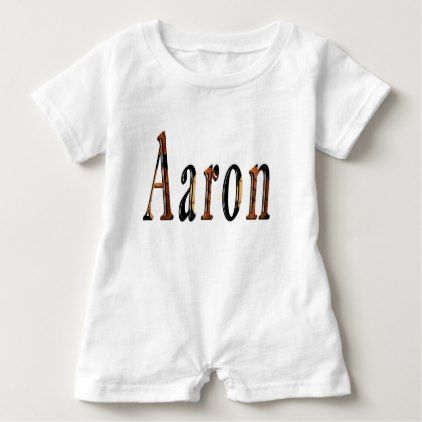 Aaron boys name logo baby romper negle Choice Image