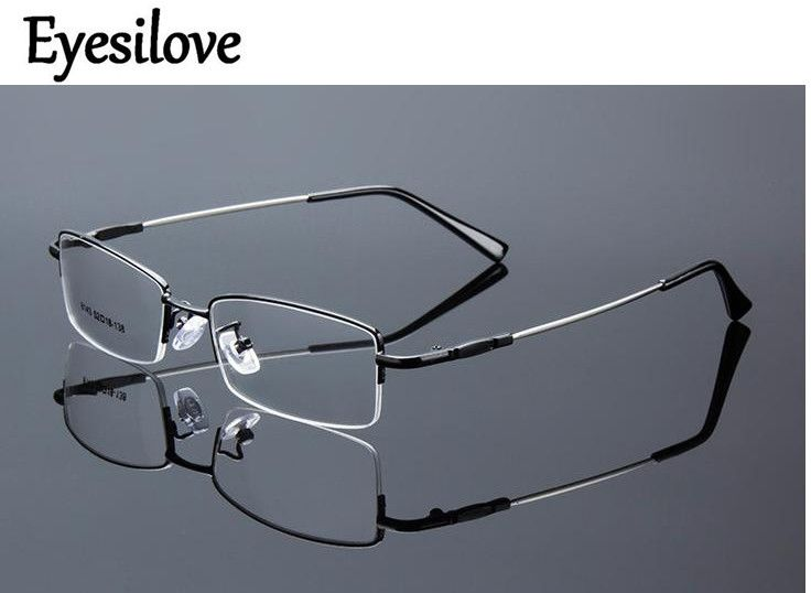 a3537cbfb2 Eyesilove metal Finished myopia glasses Nearsighted Glasses prescription  glasses for men women eyewear diopter from -1.0 to -6.0