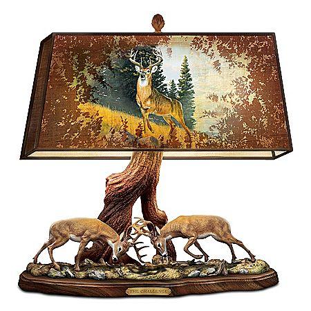 Desk Lamp With Al Agnew Deer Art