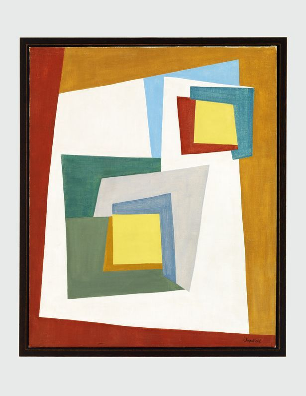Lothar Charoux, Composição I [Composition I], 1950, oil on canvas ...