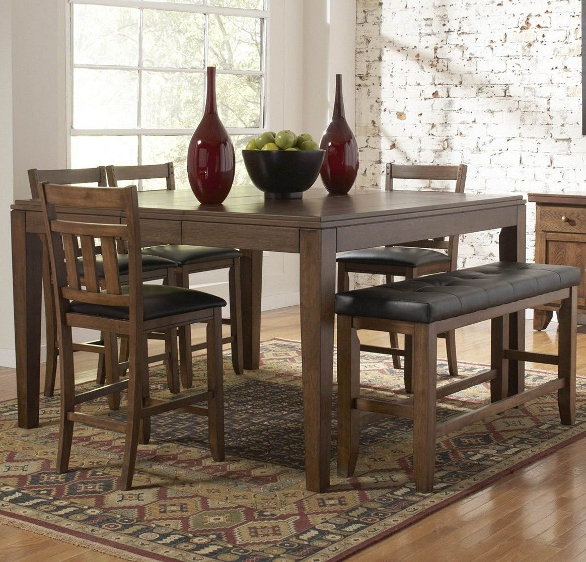 For Your Casual Dining E The Kai Collection Provides Ample Seating Family And Friends This Set Is Counter Height Chairs Have