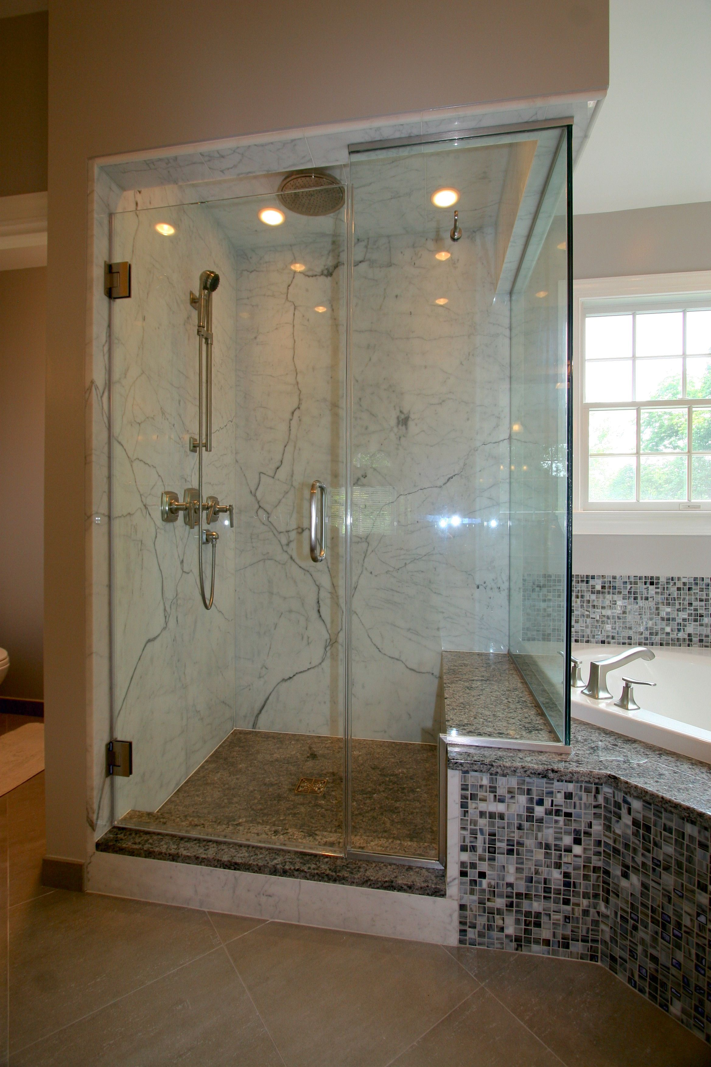 Exceptional Marble Slab Shower Walls U0026 Floor
