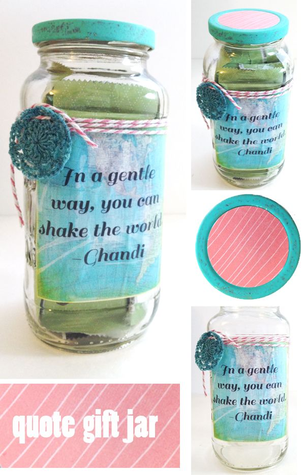 Diy Quote Gift Jar Gift Jar Diy Gifts For Friends Gift Quotes