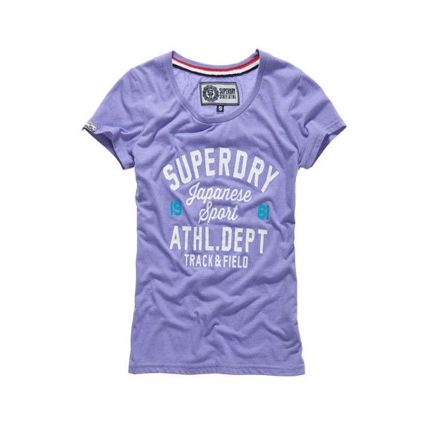 Trackster T-shirt ($40) ❤ liked on Polyvore featuring tops, t-shirts, hot violet marl, logo tee, print tees, print t shirts, purple t shirt and pattern tops