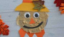 Paper Plate Scarecrow #recycledcd