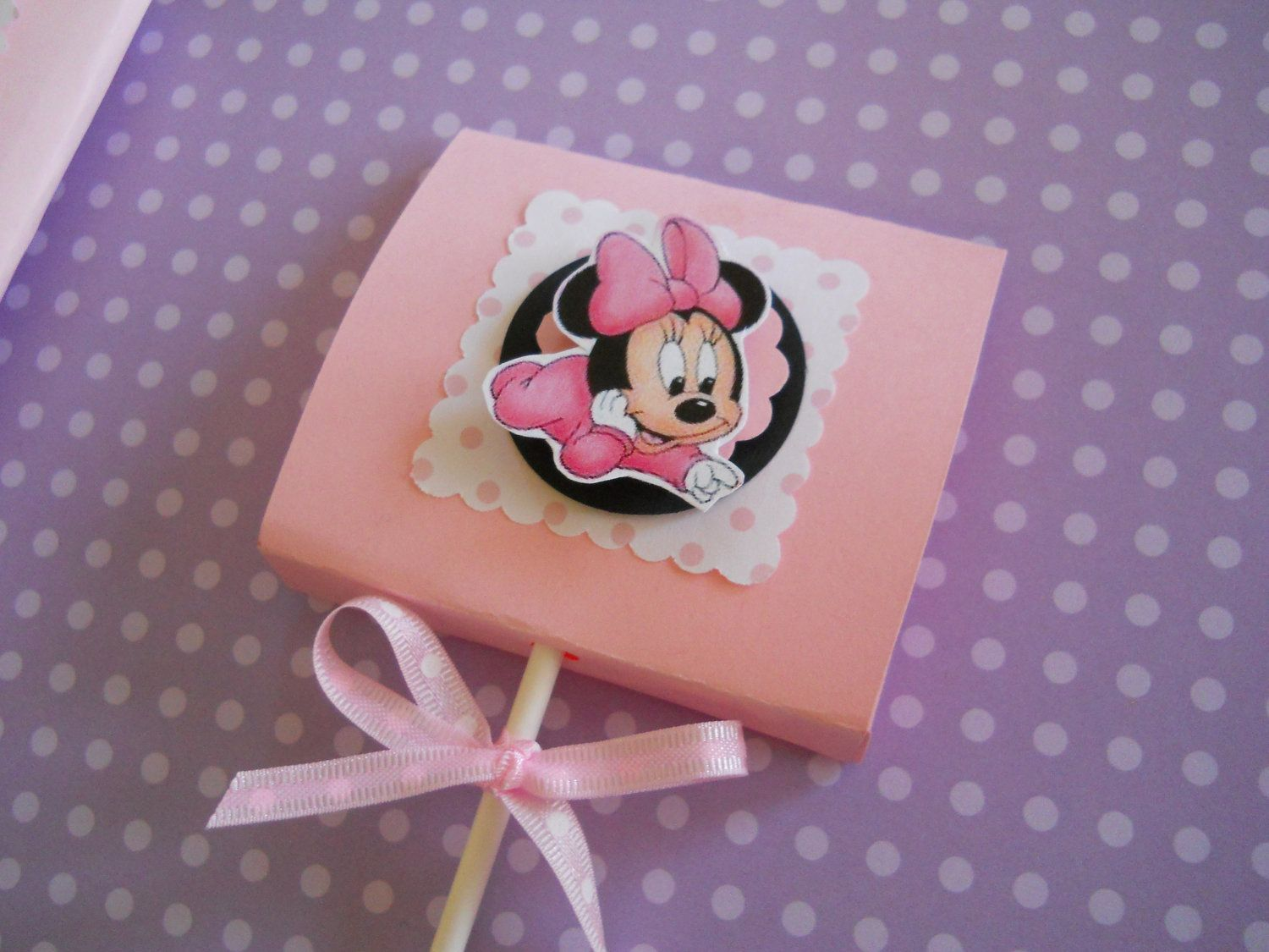 Minnie Mouse Baby Shower Decoration | Baby Minnie Mouse Party Lollipops Set  Of 8 By OMGaparty