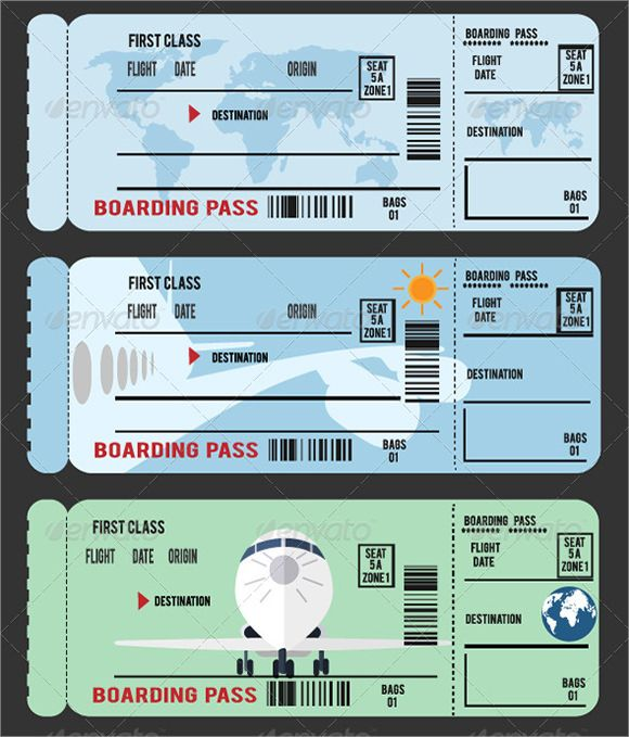 Sample boarding pass 9 documents in pdf psd vector for Boarding pass sleeve template