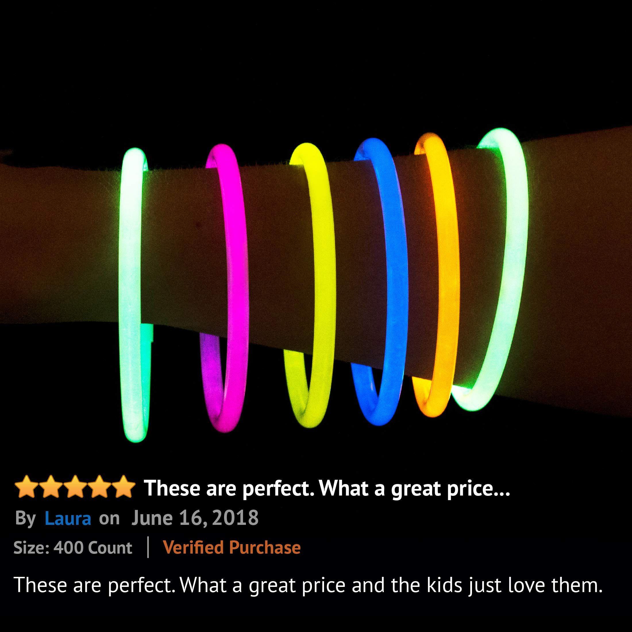 Glow Sticks Bulk 300 Count 8 Partysticks Brand Premium