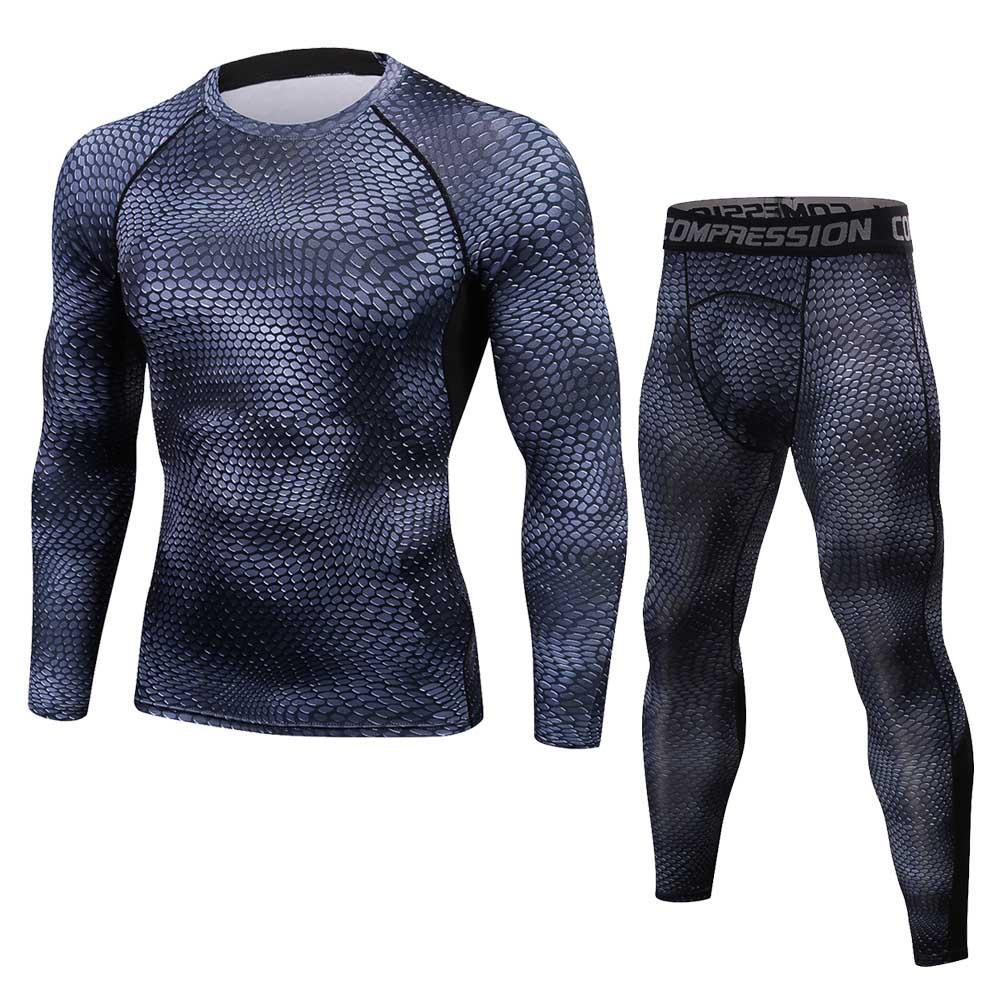 Dooxii Homme 4 Pi/èces V/êtements de Sport avec Hoodies Vestes Shirt Compression Collant Running Short S/échage Rapide pour Workout Ensemble de Fitness Tenue de Sportswear