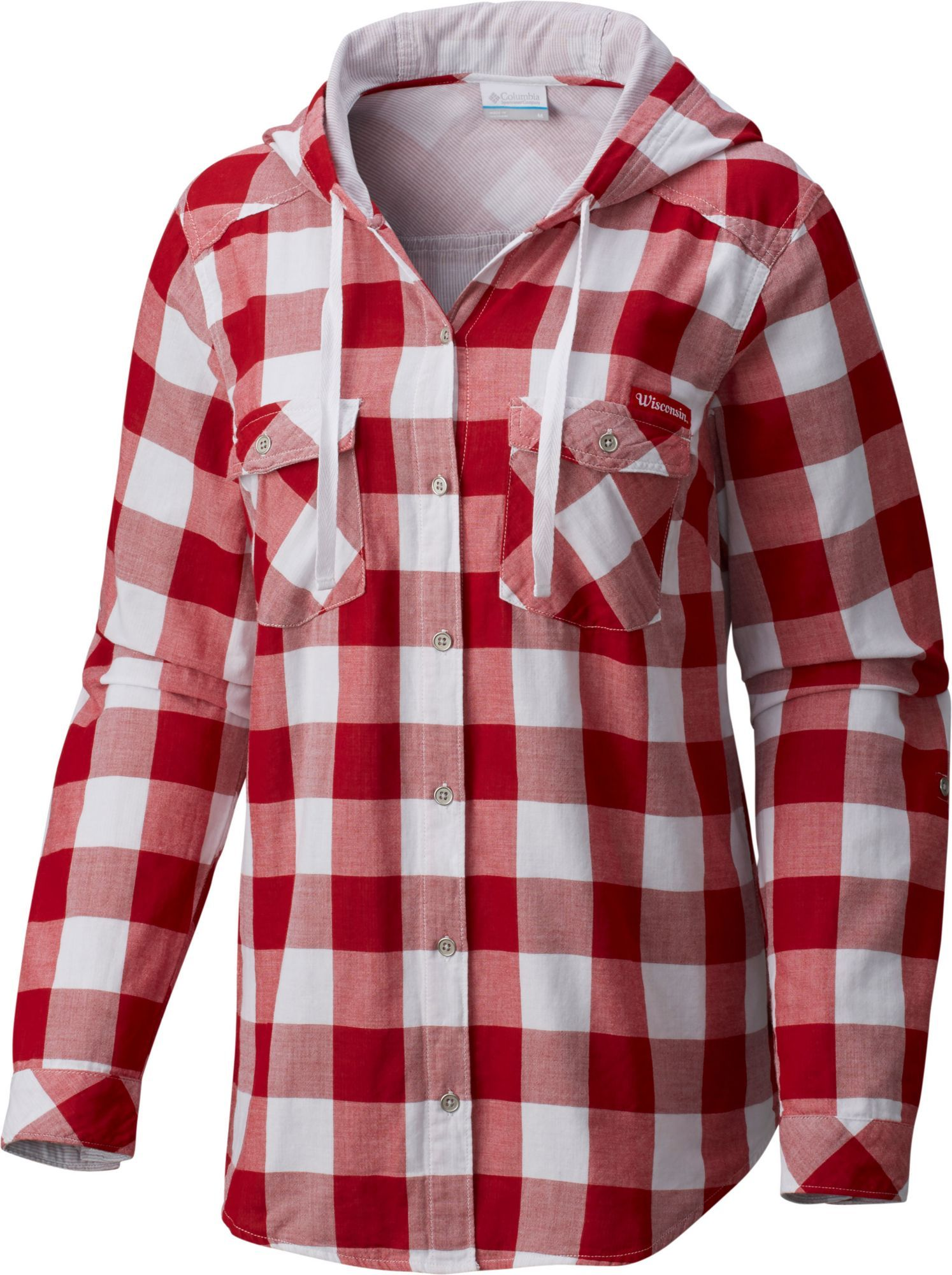 40a4325d4 Columbia Women's Wisconsin Badgers Red Times Two Long Sleeve Shirt, Team