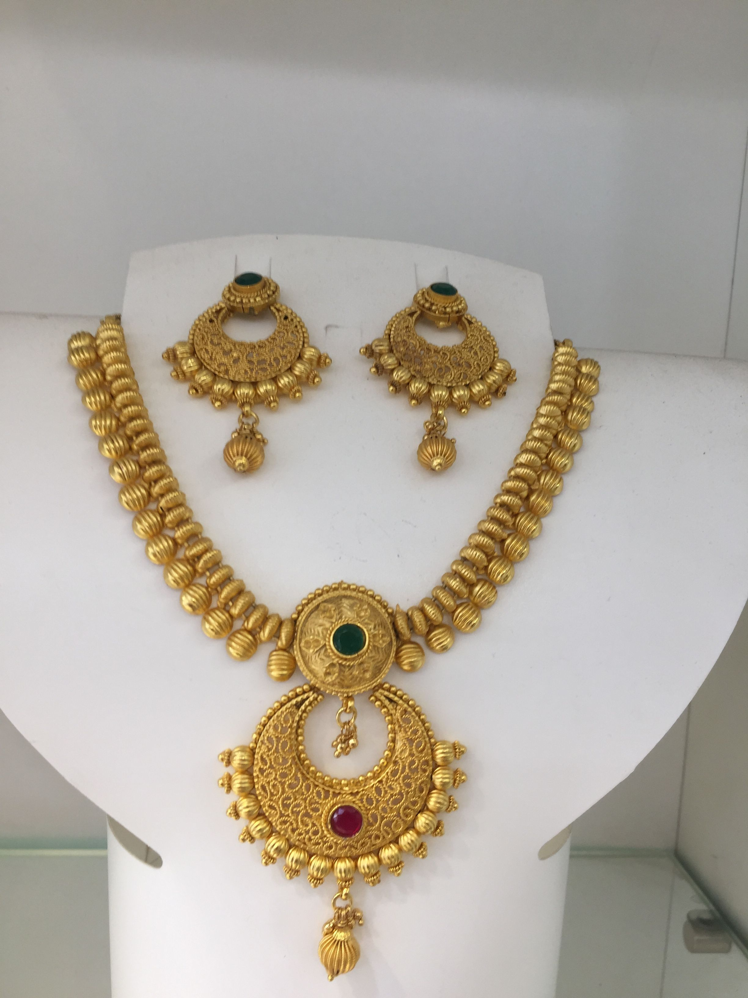 7f23a03297 Whatsapp 9849713635 One Gram Gold Jewellery Necklace set | South ...