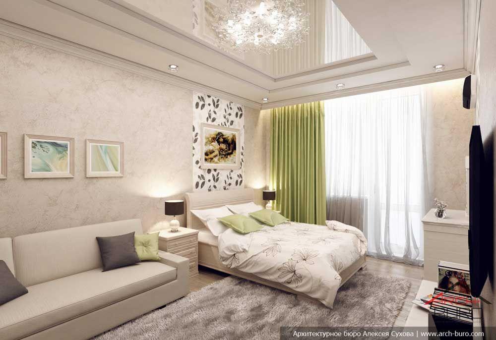 спальня гостиная в одной комнате 18 квм фото с кроватью 25 тыс
