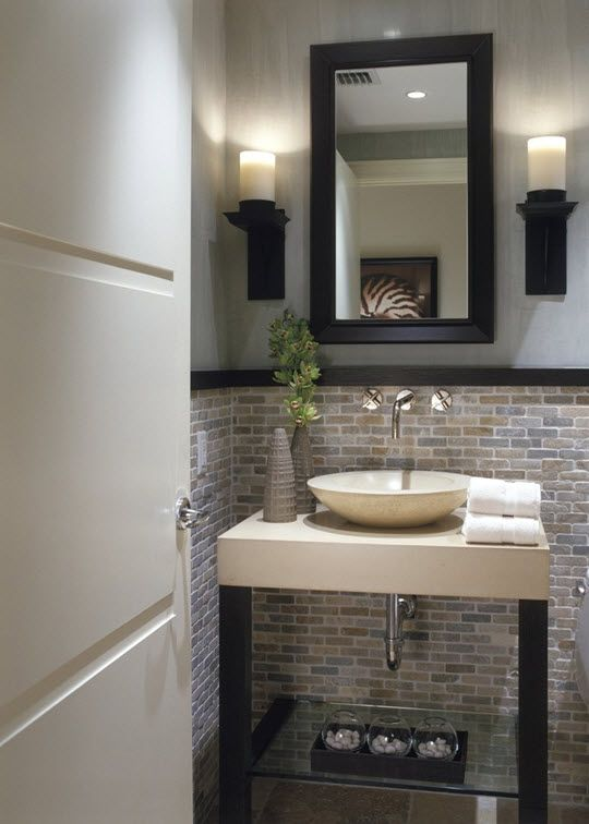 small space Casa Pinterest Small spaces, Spaces and Powder room
