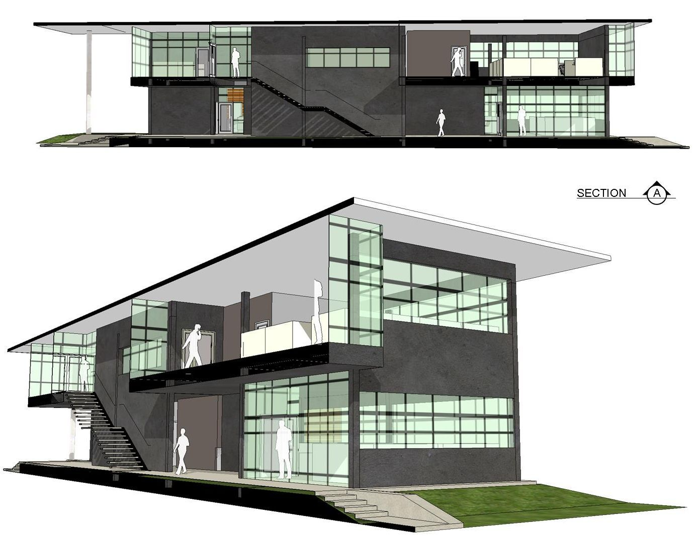 Architettura And Design 3d #preliminary #architectural for #office #building